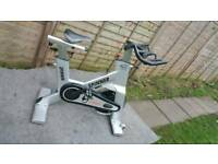 Star trac nxt spinning bike fuly refurbished in silver