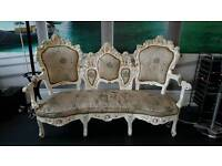 Antique French Barouqe, Racoco sofa/settee.