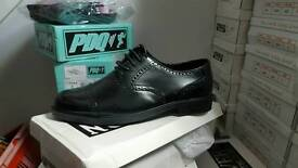 Mens black brougue style shoes