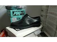 Mens black brougue style shoes