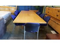 Large boardroom table with 10 chairs (with fitted power sockets)