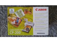 £18 CANON CARD PHOTO PRINTER - ID. UN-OPENED, ALL IN ORIGINAL PACKAGING