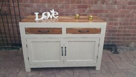 shabby chic solid wood dresser/sideboard with drawers