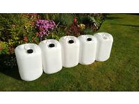 5 x 25L Empty Plastic Barrels - Ascot Berkshire