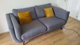 DFS Emote Large Sofa - Steel