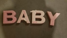 Pink Baby letters