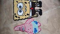 sponge bob and patrick wall hangings