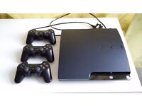 Used Playstation 3 (3 controllers, no games)