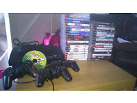 ps3 250gb 37 games 3 controllers