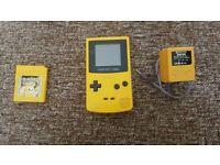 Original yellow gameboy colour bundl