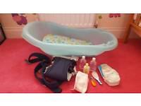 Baby bath & baby carrier bundle