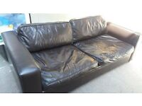 3 Seater Sofa, Genuine Aniline Leather, Very Comfortable!