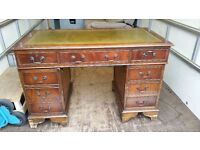 Antique office desk with chair