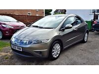 2006 HONDA CIVIC 1.4, 5DR, 68,OOO MILES, HPI CLEAR, MOT TILL FEB 2018, 3FORMER KEEPERS, ALLOY WHEELS