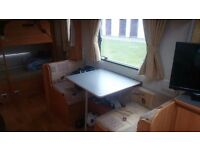 6 berth 2006 fleetwood caravan with fixed bunks