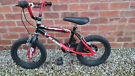 "Kids Starter Bike - Magna Gravel Buster - Black/Red - 10"" Fixed Wheel Bicycle"