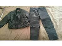 Motorbike clothing leathers