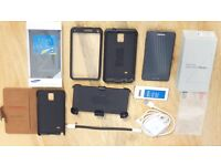 Galaxy Note 4 N910F 32GB Black Unlocked ,3 cases SView, VR Goggles (third party), Spare Battery