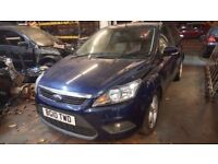 BREAKING 2010 FORD FOCUS 1.6 TDCI DIESEL 5DR ENGINE GEARBOX BODY PANEL BLUE