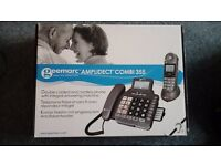 Phone Geemarc Amplidect Combi 355 Double corded and cordless phone answer machine.