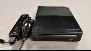 Black 2nd Gen Nintendo Wii System
