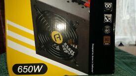 NEW 650W modular power supply