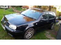 VW Golf GTI Spares or Repairs. 2003 1800 Turdo 180 BHP a/c. Cambelt went so valves bent.