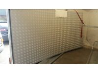 2 x new sheets of 2mm aluminium chequered plate 8ft x 4 ft