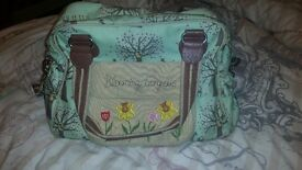 Pink lining blooming gorgeous woodlands changing bag