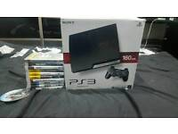 Ps3 160gb charcoal black 2 controllers