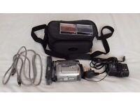 JVC Mini DV Camcorder Model No. GR-D340EK, including bag, cables & tapes
