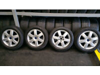 Ford Genuine 16 alloy wheel + 4 x tyres 205 55 16
