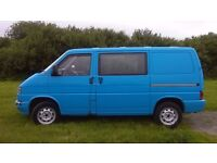 VW T4 Transporter SWB 1.9 Diesel Manual FSH 1993, insulated, ply lined and carpeted