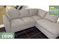 Designer buoyant expresso 2 piece corner sofa £699