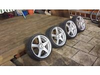 alloys whells R18-good tyres 4-108 and 4-114,3