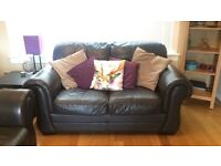 Chocolate brown 2 & 3 seater couch