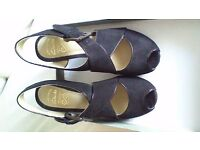 Clarks black suede cross strap sandals size 5 - never been worn outside