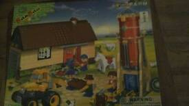 Brand new in box. Banbao farm construction set