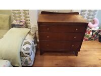 Vintage Retro Chest of Drawers 3 Graduated Drawers LUBUS Maker Dresser Chest