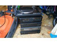 5 stack stereo unit, Record/cd/tape/radio/amp