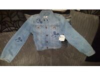 Girls age 10-11 minnie mouse denim jacket, gap kids. New with tags