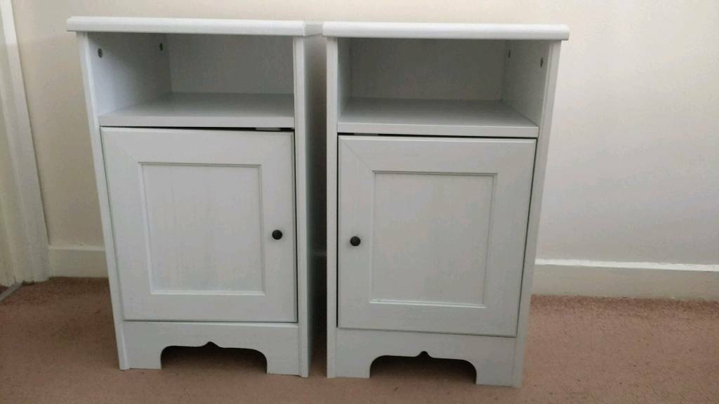 Two ikea aspelund white bedside tables nightstands 25 for both in two ikea aspelund white bedside tables nightstands 25 for both watchthetrailerfo