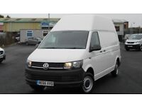 TOTALLY AS NEW 2016 VW TRANSPORTER T32 LWB HIGH ROOF 150 BHP BLUEMOTION TECH. ONLY 2100 MILES !!!!