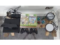 Xbox 360 Kinect 250GB with 2 Skylanders Portal (incl 5 characters) + 19 Xbox games