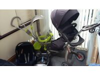 Pram STOKE & MaxiCosi+ISOFIX & Baby bike