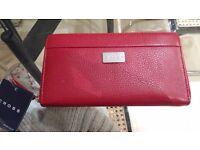 Luxury Cross Red Leather Purse Wallet