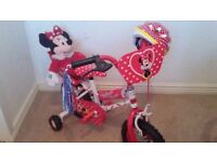 MINNIE MOUSE BIKE WITH EXTRAS NEVER USED