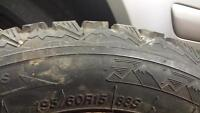 Volks Wagon spare tire, jack kit and winter tires on rims