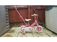 Girls toddler bike
