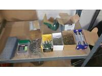 Job lot of screws nails and nail plates